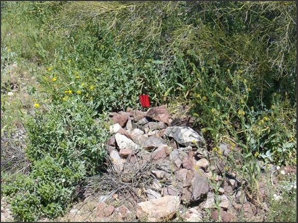 Figure 11, Lone adult male grave at Site #9.