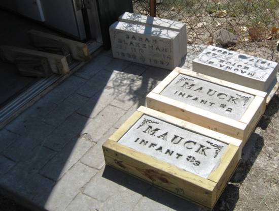 Cemetery Project Headstone Making